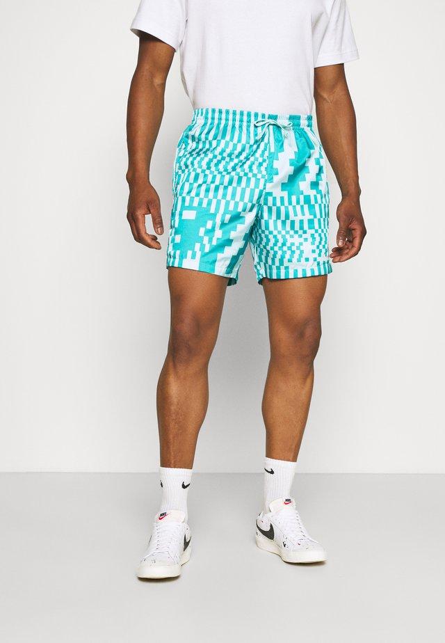 ZIGZAG SHORT FLOW - Shorts - aquamarine