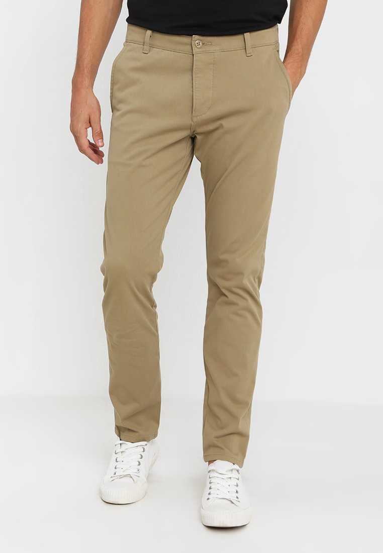 DOCKERS - SMART SUPREME FLEX SKINNY - Pantalones chinos - new british khaki