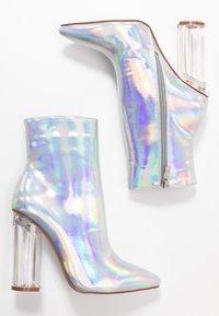 BEBO - ELLIA - Kotníková obuv na vysokém podpatku - silver - 3