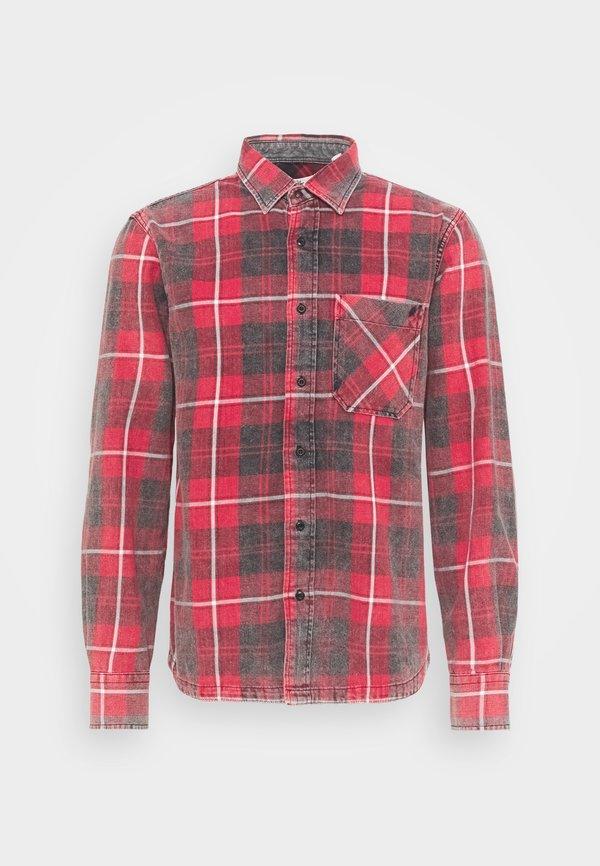 Replay Koszula - red/black/czerwony Odzież Męska OQXX