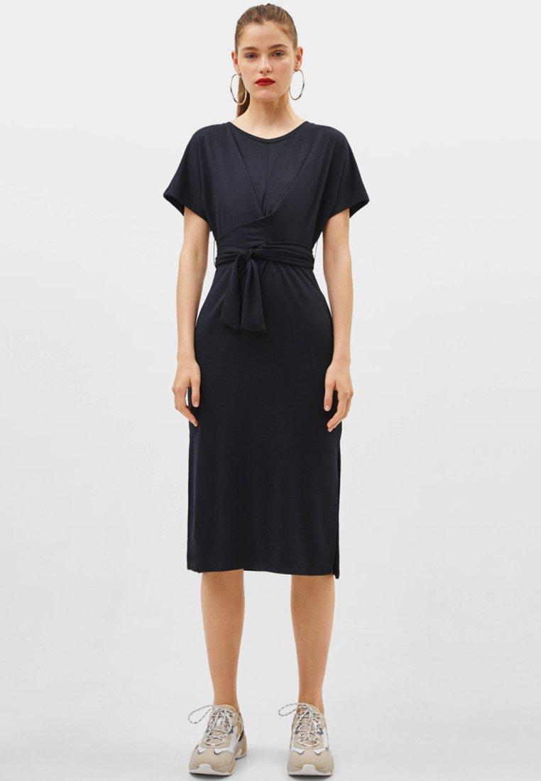 Bershka - MIT SCHLEIFE - Day dress - black