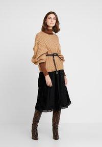 Anna Field - A-line skirt - metallic black - 1