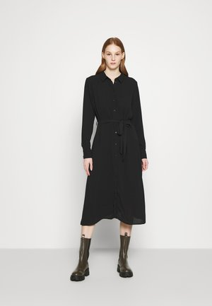 JDYPIPER ABOVE CALF DRESS - Košilové šaty - black