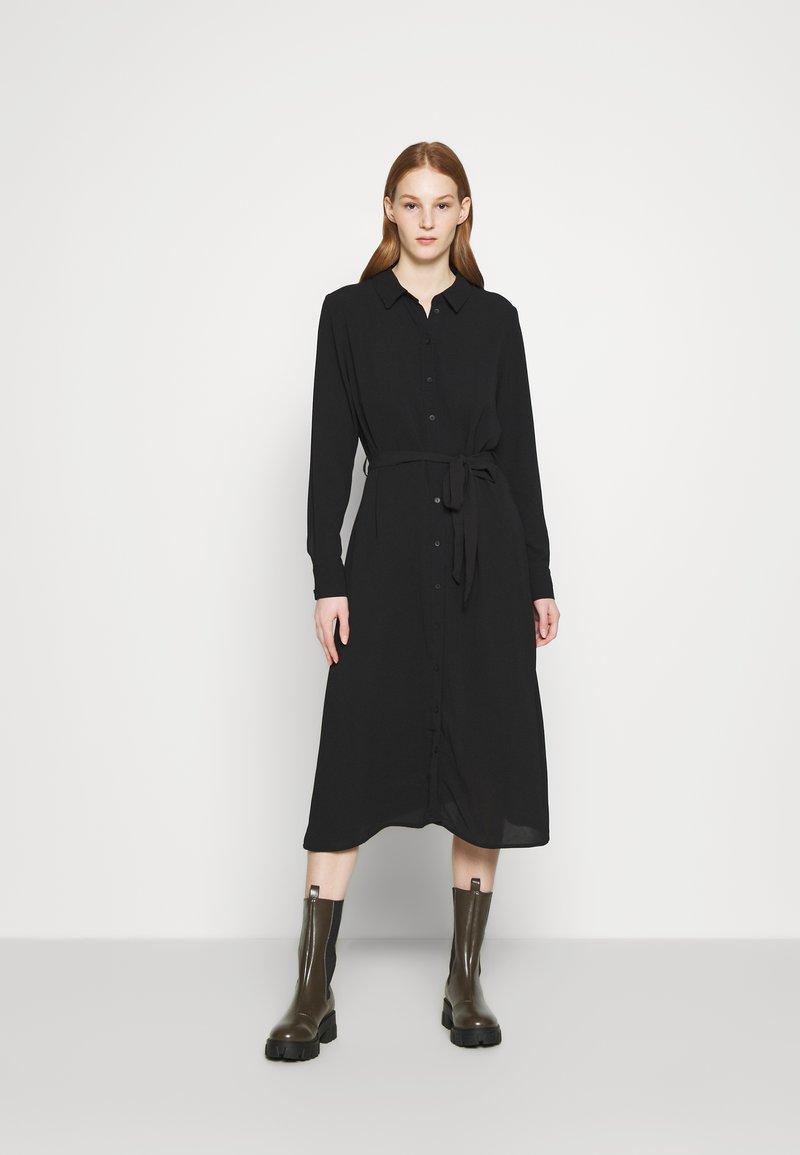 JDY - JDYPIPER ABOVE CALF DRESS - Košilové šaty - black