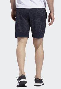 adidas Performance - 4KRFT SPORT STRIPED HEATHER SHORTS - Sports shorts - blue - 1