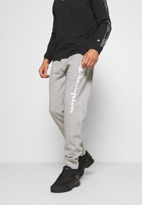 Champion - LEGACY CUFF PANTS - Tracksuit bottoms - mottled grey - 0