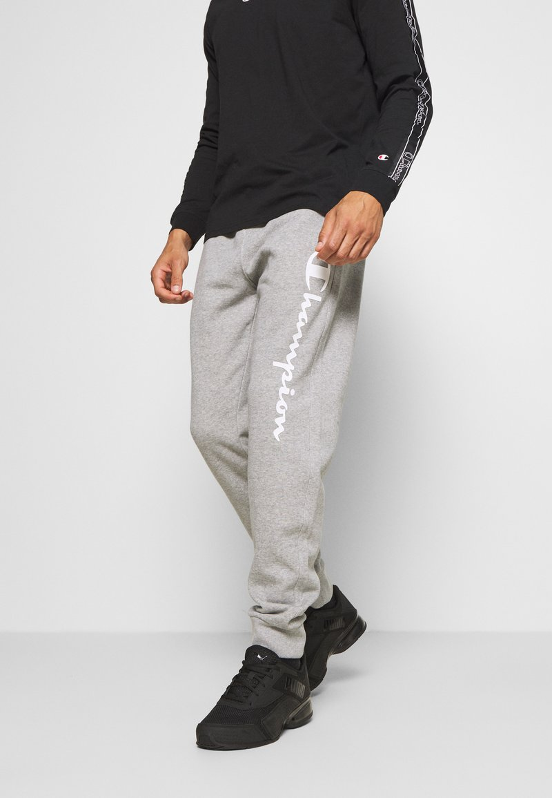 Champion - LEGACY CUFF PANTS - Tracksuit bottoms - mottled grey