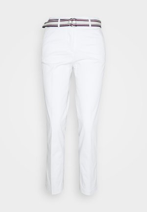 SLIM PANT - Trousers - white