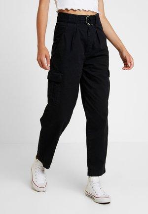 VALERIA UTILITY - Pantaloni - black