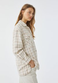 PULL&BEAR - Button-down blouse - sand - 4