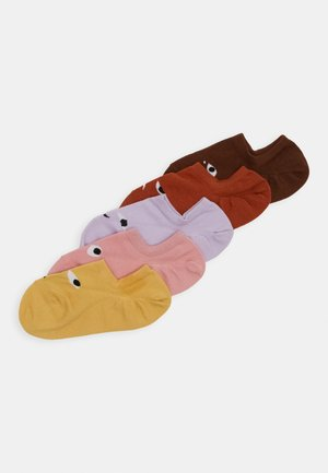MIXED SNEAKER SOCKS 5 PACK - Trainer socks - yellow/pink/bordeaux