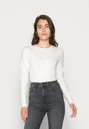 ELA LACE - Top sdlouhým rukávem - off white