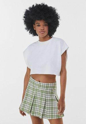Pliceret nederdel /Nederdele med folder - green