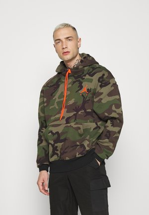 JUMPMAN AIR CAMO - Jersey con capucha - medium olive
