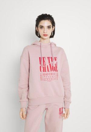 BE THE CHANGE PRINT OVERSIZED HOODIE - Sweatshirt - light pink