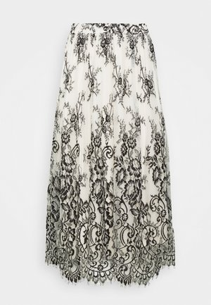 VIHANIA MIDI SKIRT - A-line skirt - cream/black