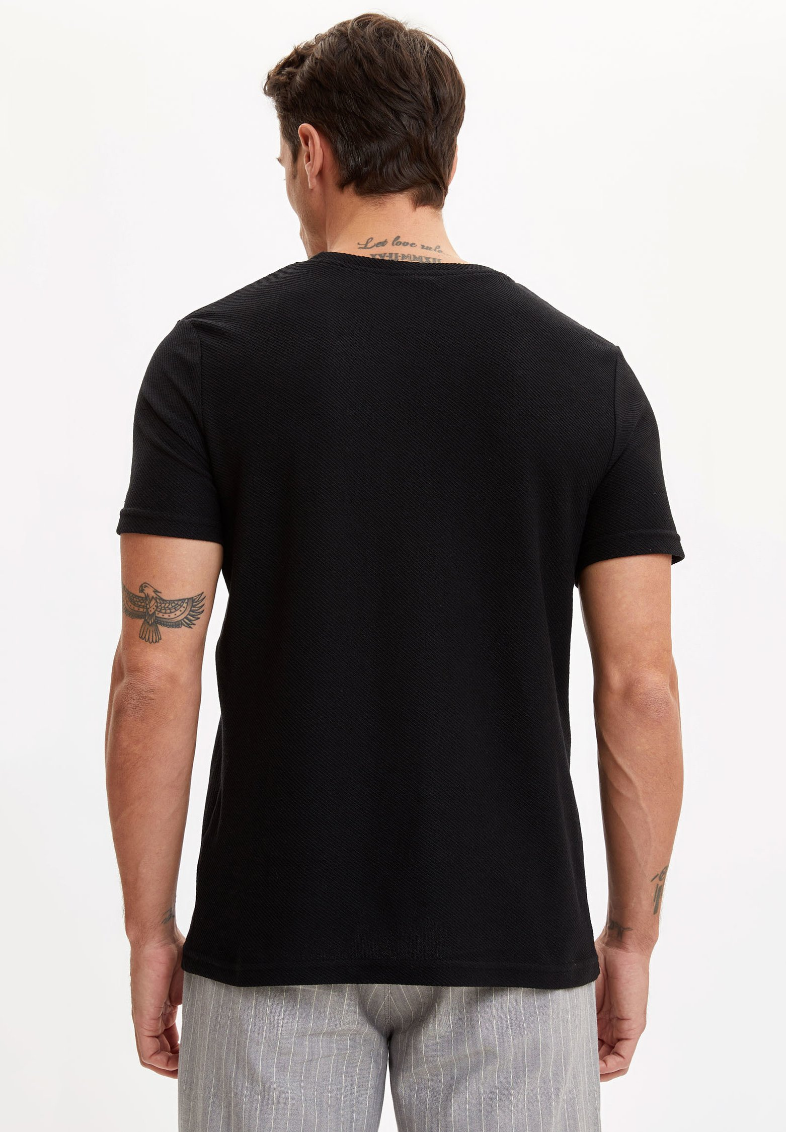 DeFacto Basic T-shirt - black 2utGl