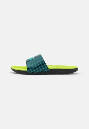 KAWA SLIDE UNISEX - Pool slides - black/aquamarine