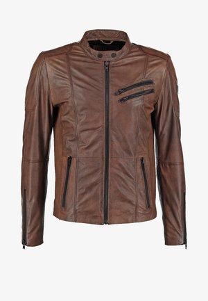 DAVIDSON - Leather jacket - wood