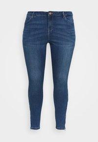 Vero Moda Curve - VMTILDE ZIP - Džíny Slim Fit - medium blue denim - 3