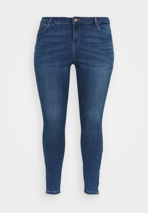 VMTILDE ZIP - Slim fit jeans - medium blue denim