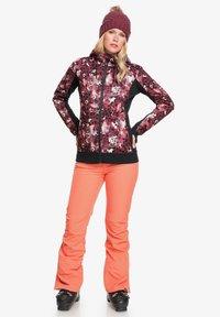 Roxy - FROST PRINTED - Fleece jacket - oxblood red leopold - 1