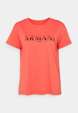 T-shirt z nadrukiem - sangria