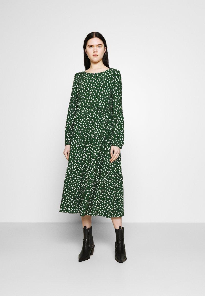 Even&Odd - Day dress - green/white