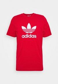 adidas Originals - TREFOIL UNISEX - T-shirt imprimé - scarle - 0
