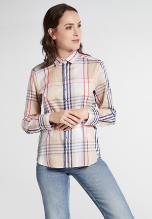 MODERN CLASSIC FIT - Button-down blouse - blue/white/beige