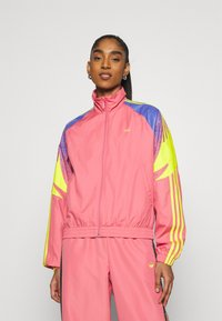 adidas Originals - TRACK - Summer jacket - hazy rose/acid yellow/joy purple - 0