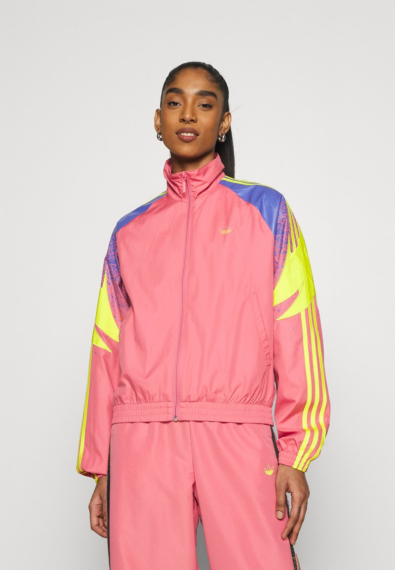 adidas Originals - TRACK - Summer jacket - hazy rose/acid yellow/joy purple