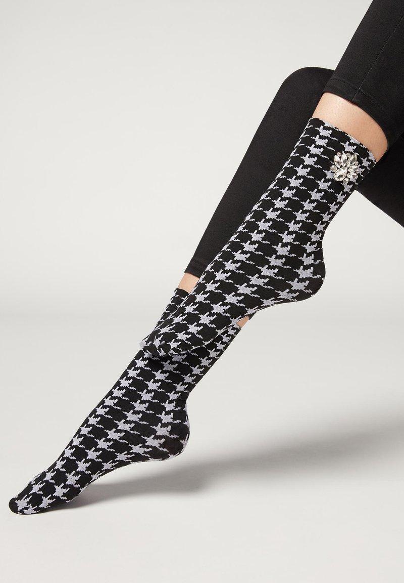 Calzedonia - Socks - bianco/nero/grigio chiaro mel