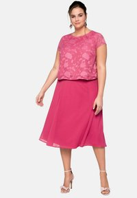 Sheego - A-line skirt - roses wood - 1