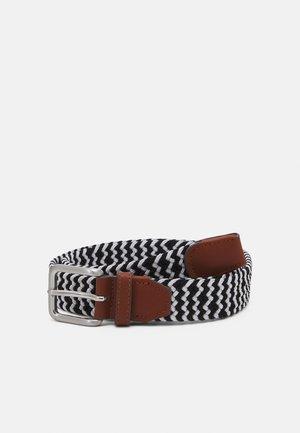 JACSPRING BELT - Pletený pásek - white/black