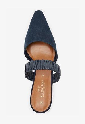 Pantolette flach - dark blue