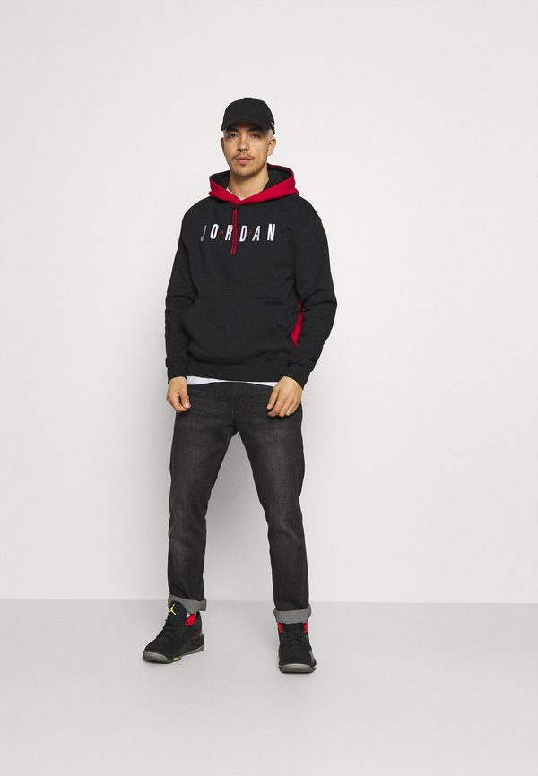 Jordan JUMPMAN AIR - Bluza - black/gym red/czarny Odzież Męska NPXQ