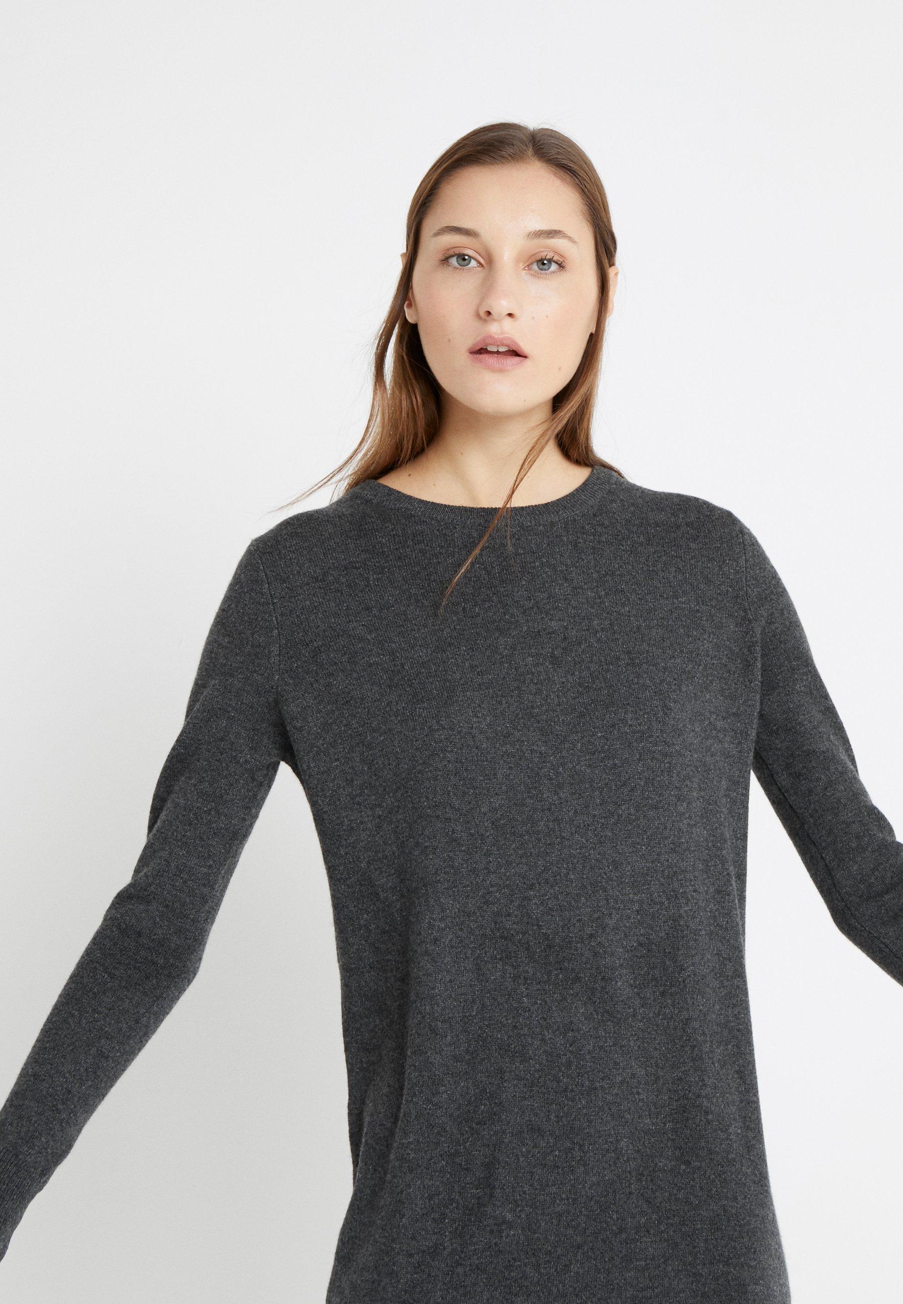 Autentyczny Duża obniżka pure cashmere CREW NECK DRESS - Sukienka dzianinowa - graphite | Odzież damska 2020 2DmfU