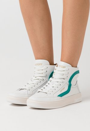 BASKET LUX TRAINER - Zapatillas altas - white/aqua