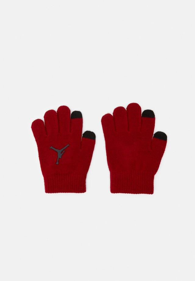 JUMPMAN CLASSICS POM BEANIE SET - Rękawiczki pięciopalcowe - gym red/black