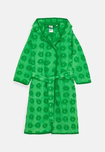 BADEKÅBE MED ÆBLER UNISEX - Dressing gown - green