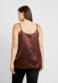 Simply Be - KNOT FRONT DETAIL - Top - chocolate - 2
