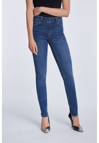 SET - Slim fit jeans - darkblue denim - 4