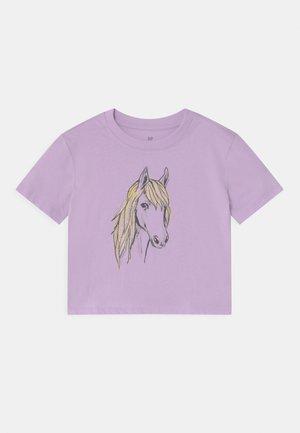 BOXY  - Print T-shirt - pale lilac