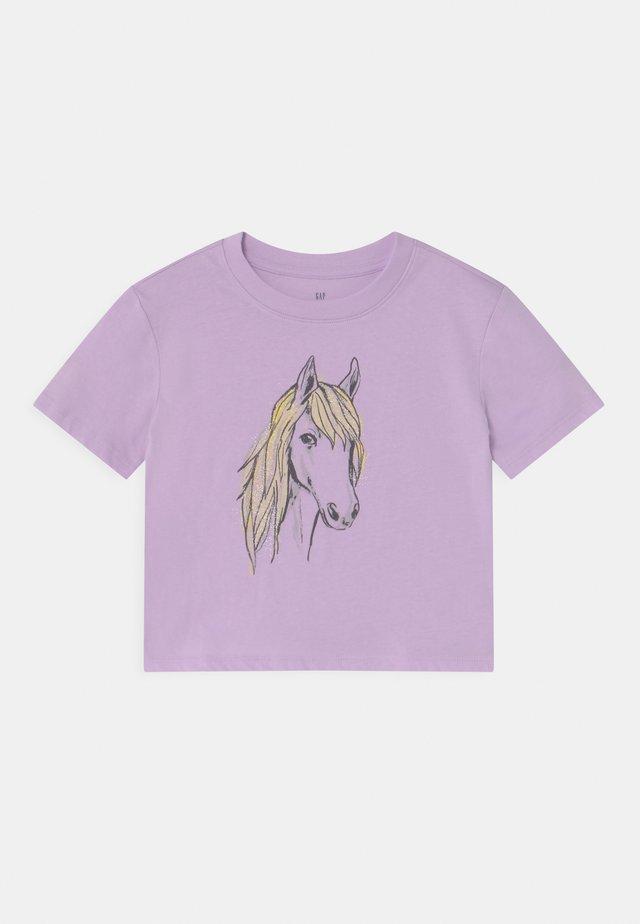 BOXY  - T-shirt print - pale lilac
