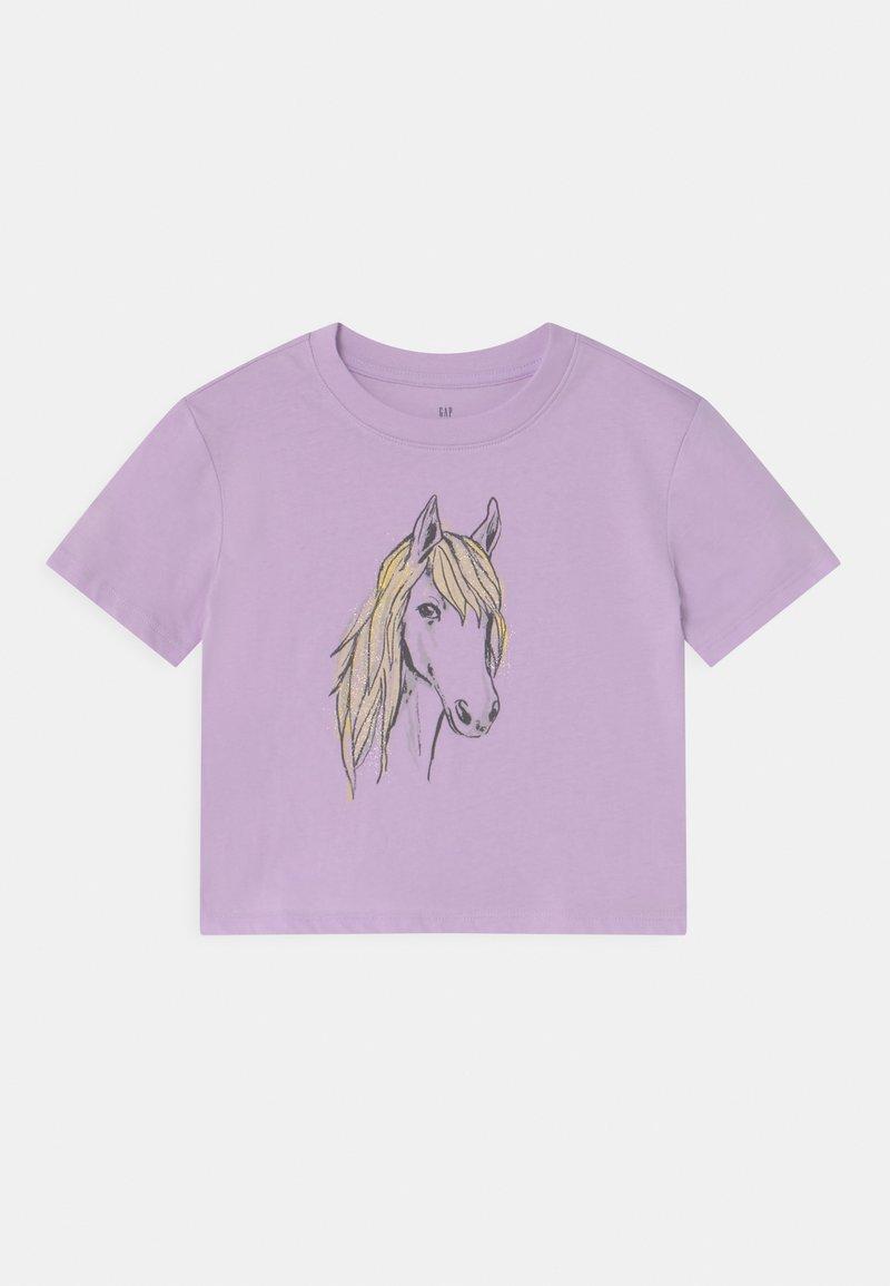 GAP - BOXY  - Print T-shirt - pale lilac