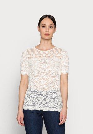 T-shirts med print - ivory