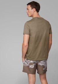 BOSS - T-SHIRT RN - Print T-shirt - dark brown - 1