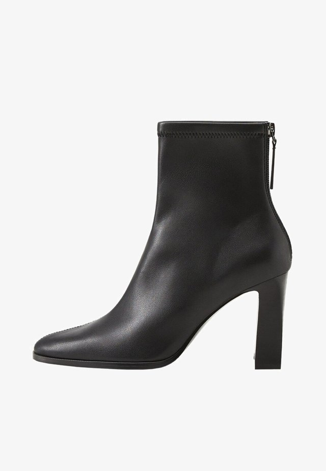 PUNTO - High heeled ankle boots - black