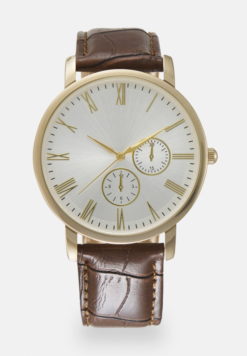Burton Menswear London - CLASSIC WATCH - Reloj - gold-coloured/brown